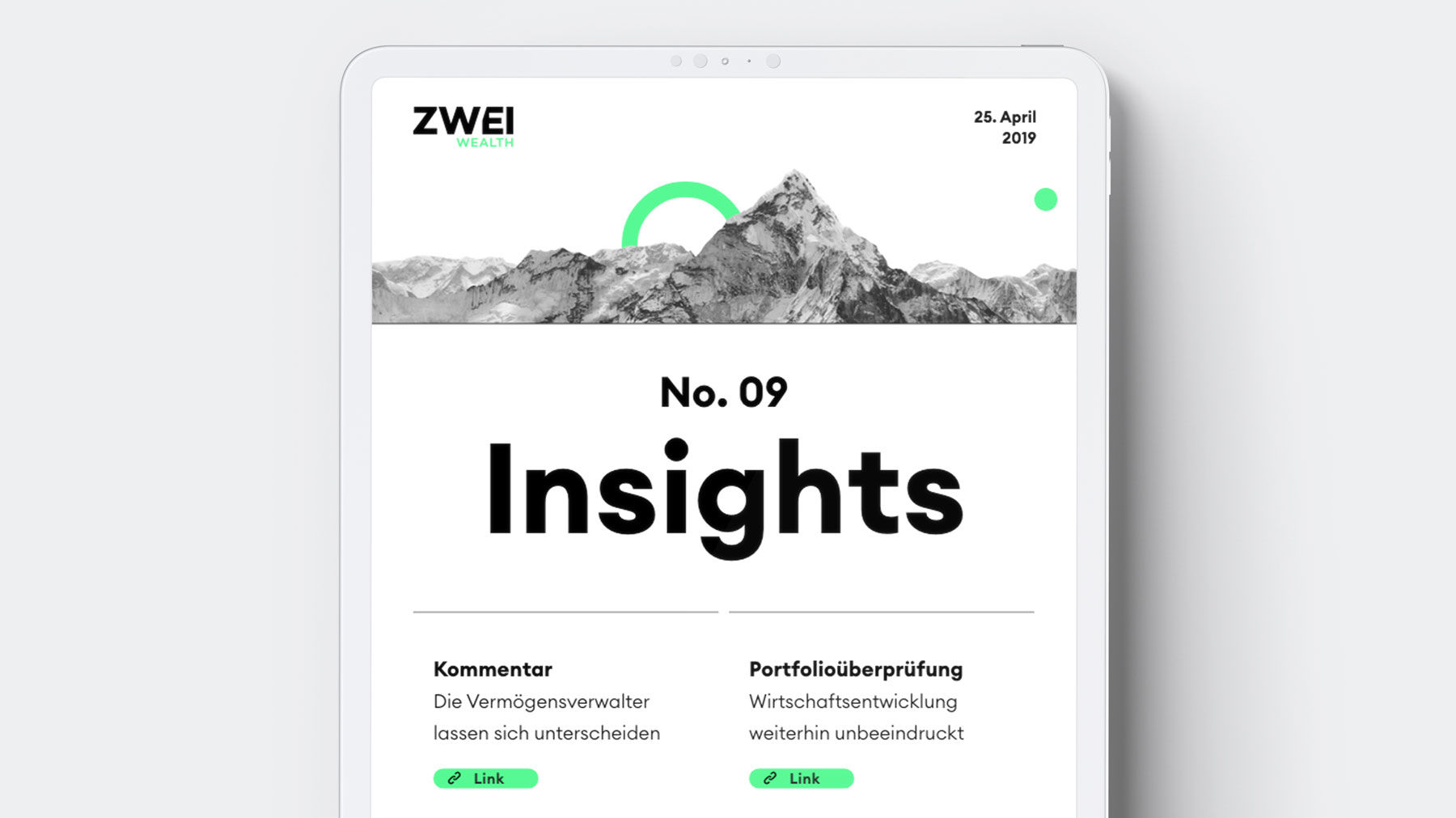 ZWEI Wealth News
