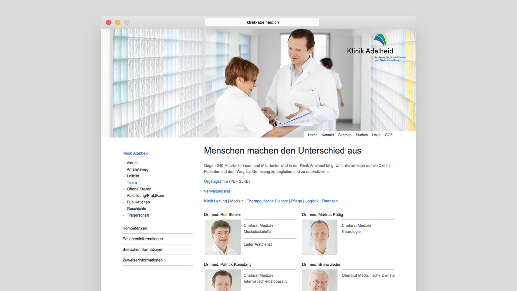 Klinik Adelheid Website
