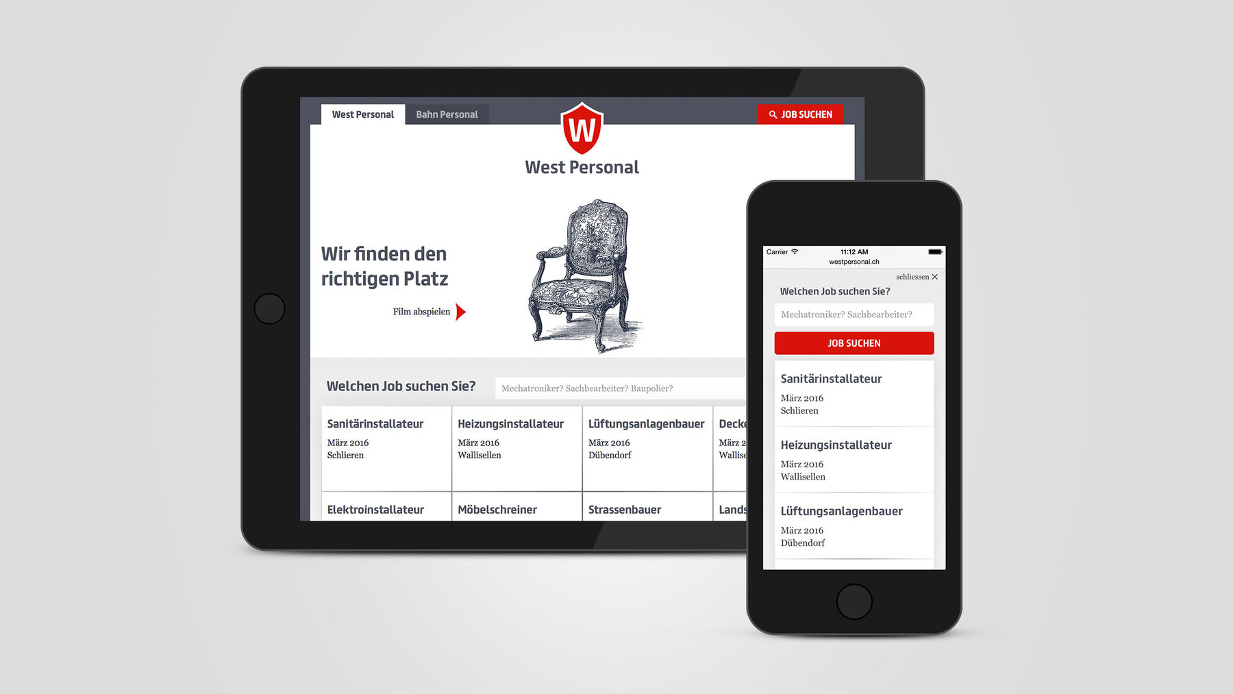 West Personal AG Responsive Webdesign