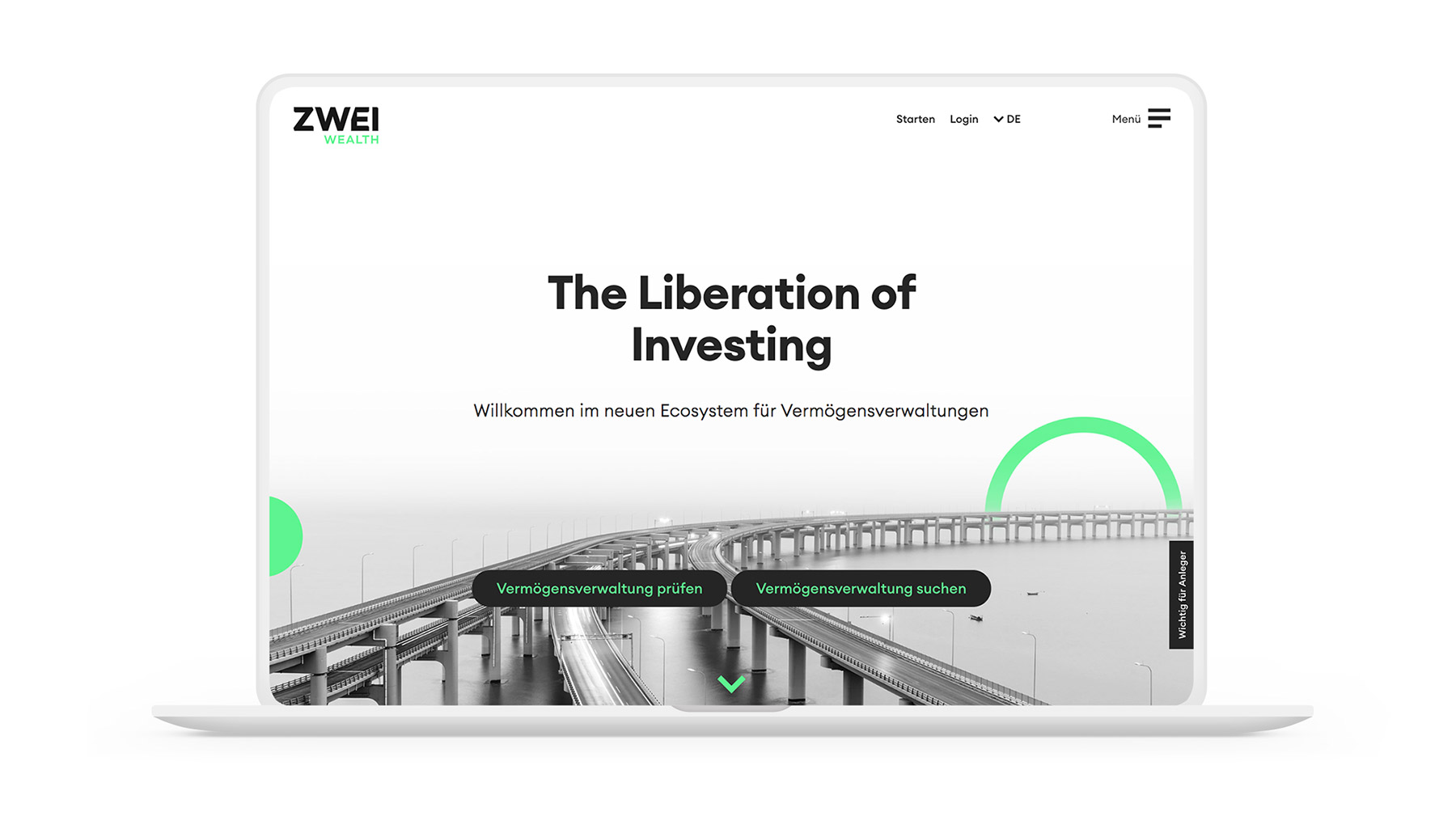 Projekt ZWEI Wealth Website